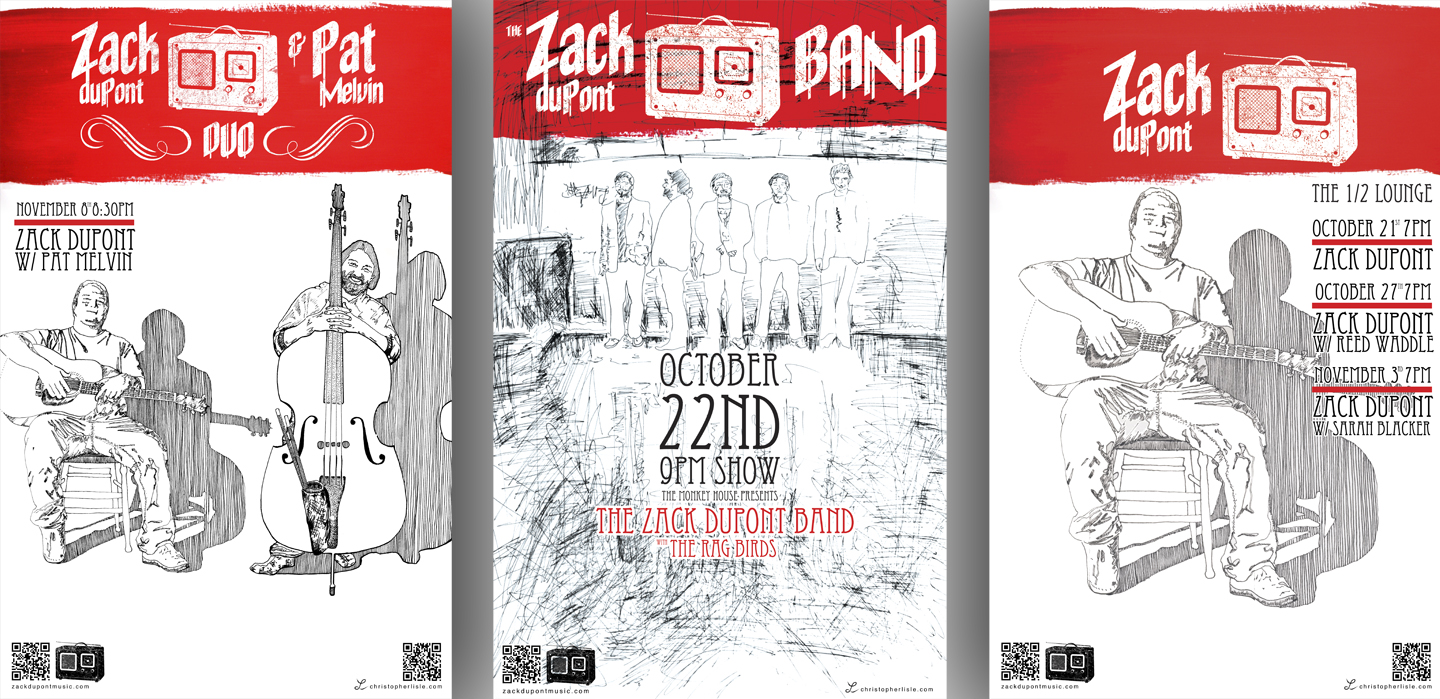 Zack DuPont Band - Poster design
