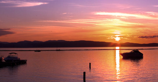 Spring Flooding/Fall sunset :: BTV Waterfront
