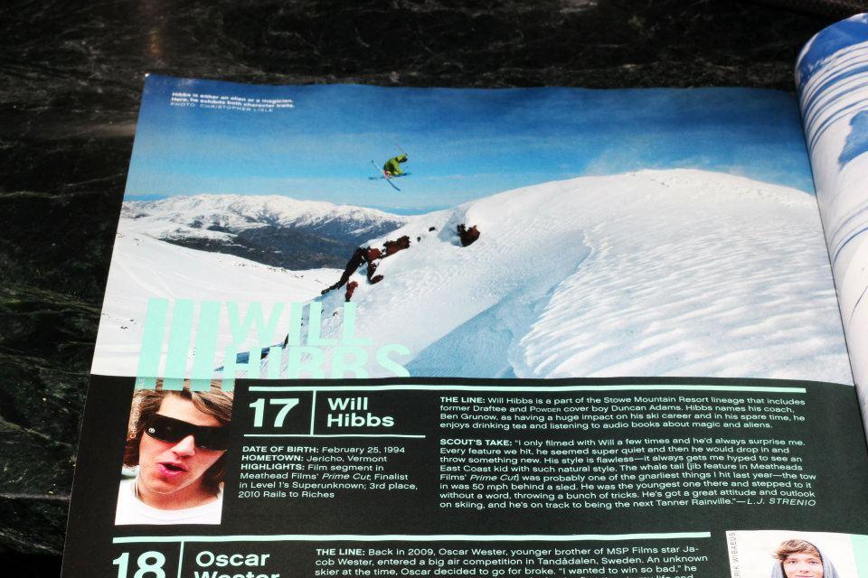 Will Hibbs, La Parva Chile, Team Klint, Powder magazine