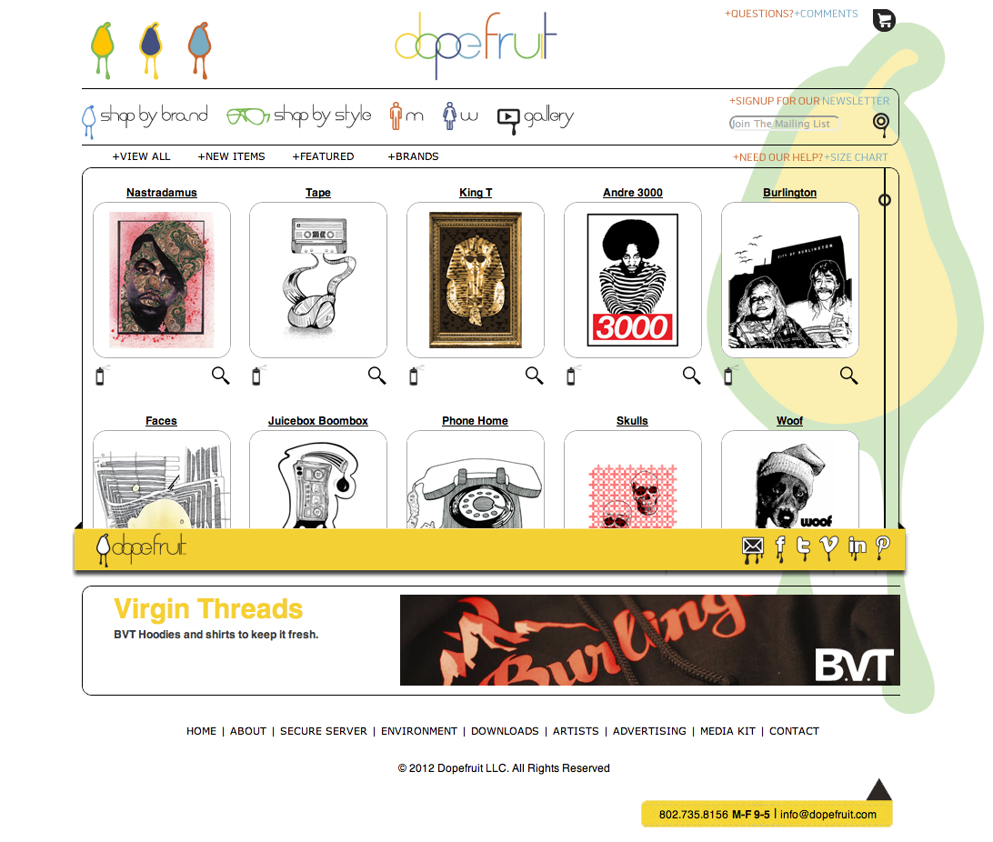 Dopefruit website design