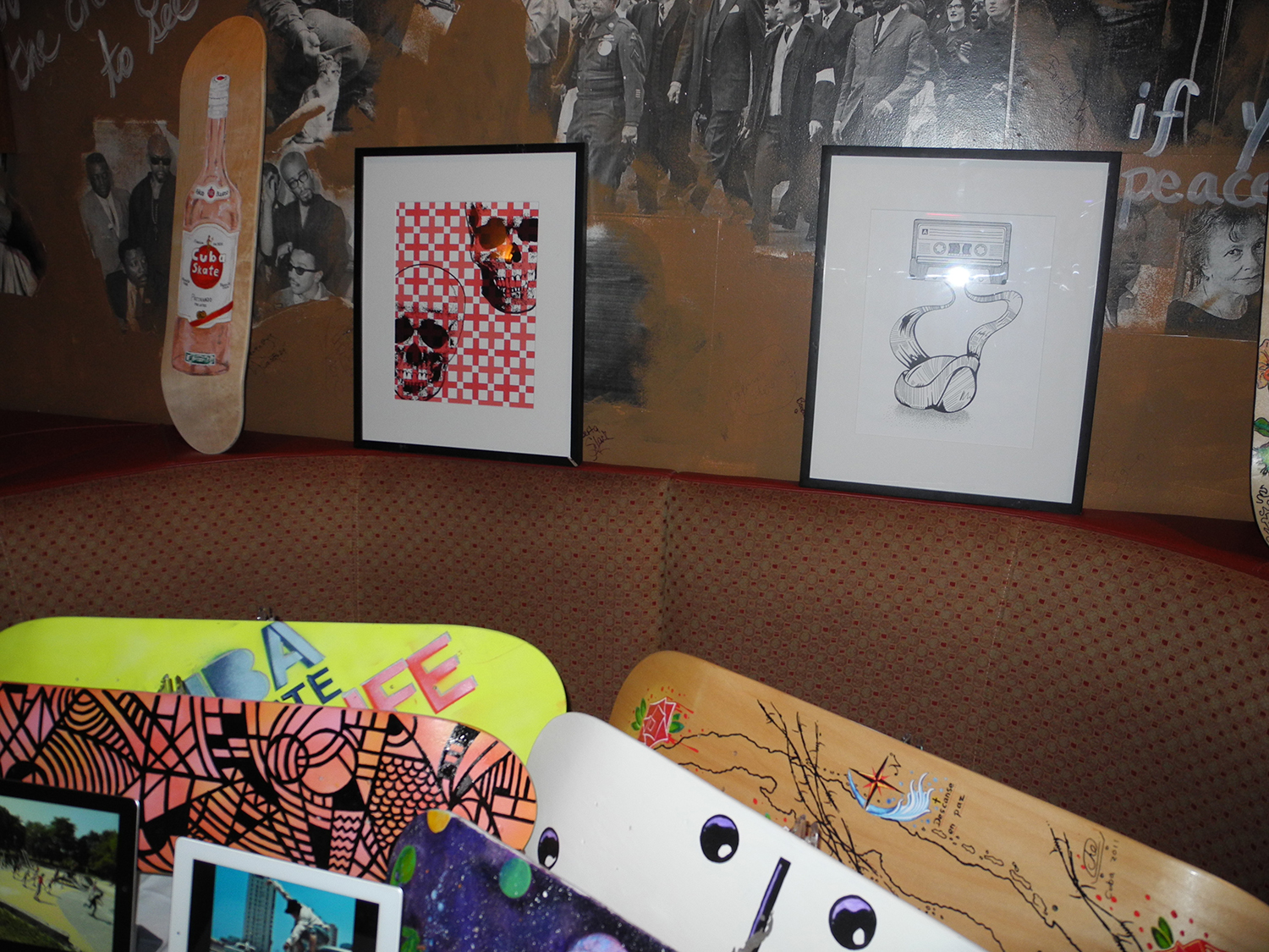 Tape illustration being auctioned off for Cuba Skate