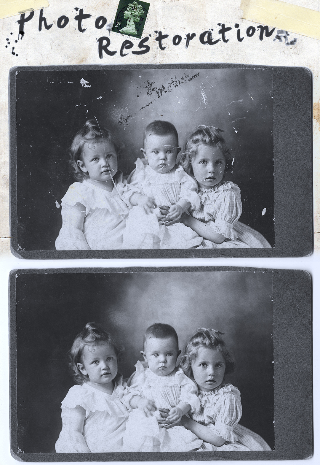 Photo restoration - before & after