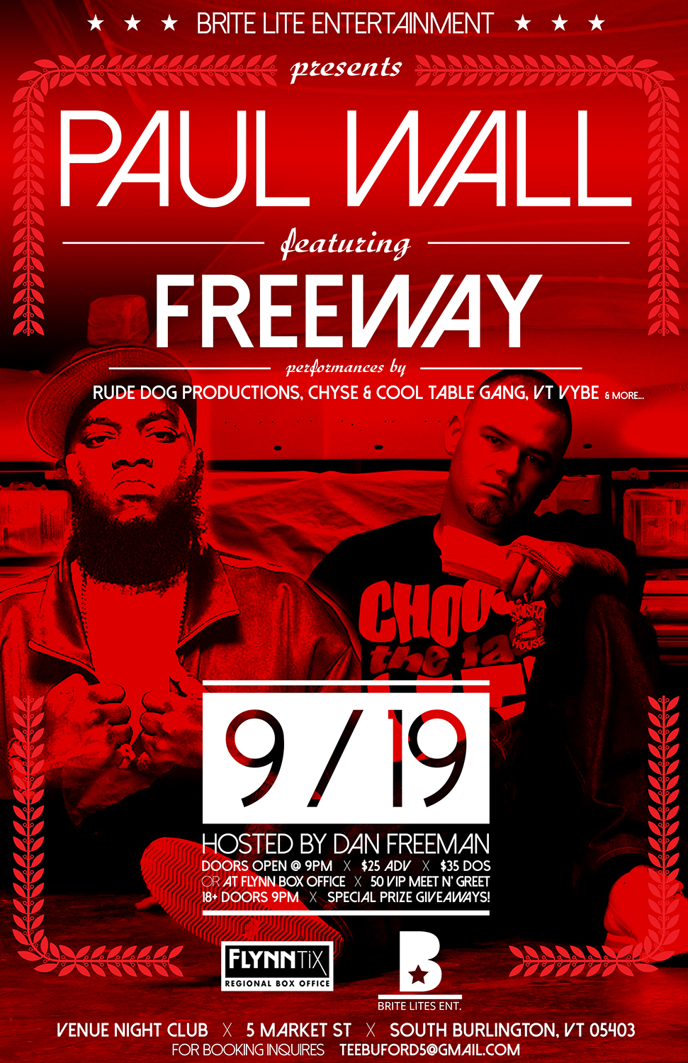 Pall Wall and Freeway poster design