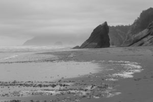Calm befor the storm on the coast of Oregon