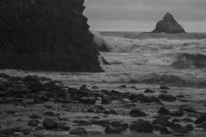 Ocean waves in Oregon
