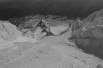 Summit of Mt. Hood looking down