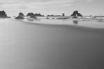 Oregon beach with haystacks