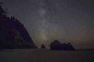 Oregon beach with milkyway