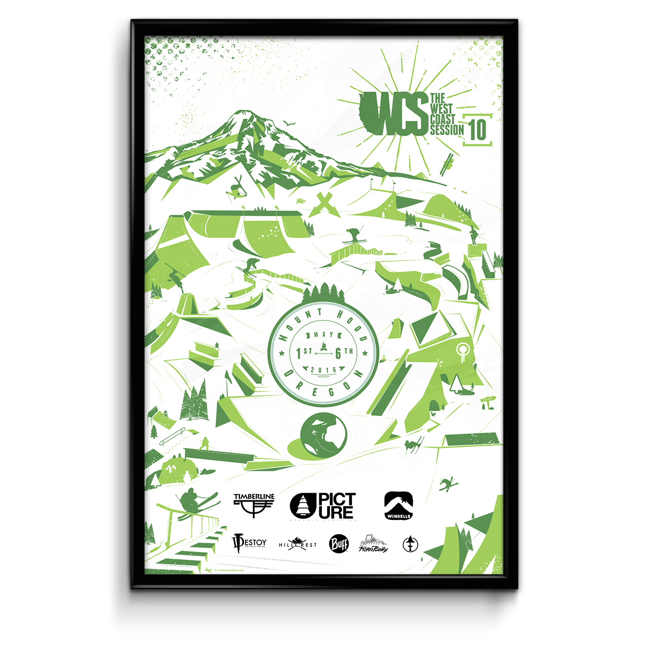 WCS artwork update t-shirt / Buff / poster / web