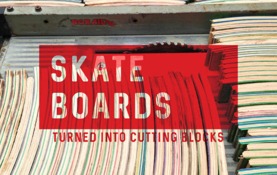 Skateboard cutting boards