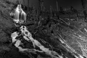 Wapiti Falls from the bottom