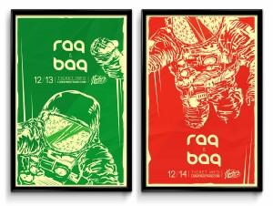 """- """"RAQ"""" (1) Limited edition silk-screen (2) 11 x 17 posters series (34/35) – (23/35)"""