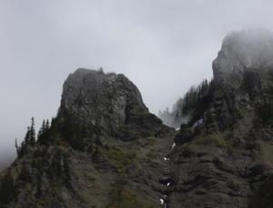 Mist on rocks