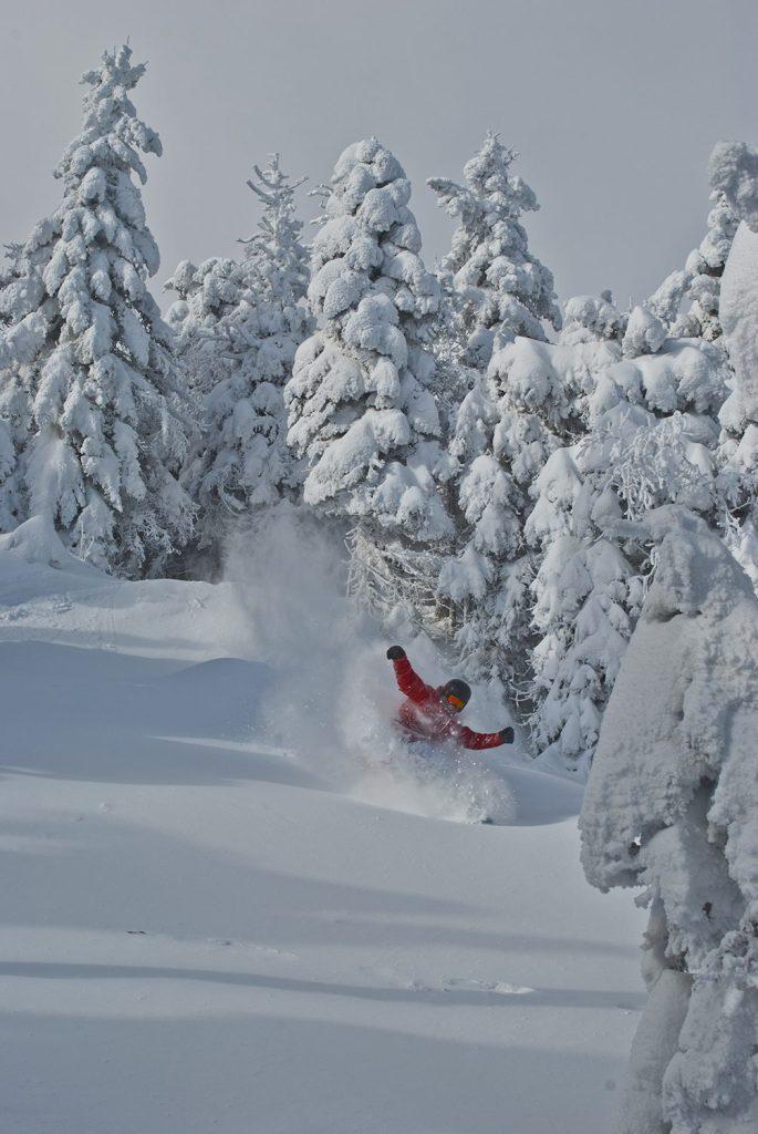 Adam Baisley Skiing top of Stowe, Vermont