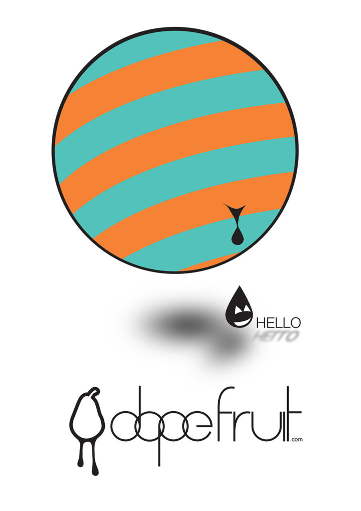 Dopefruit Hello graphic