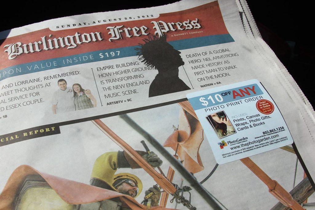 Photogarden ad in the Burlington Free Press