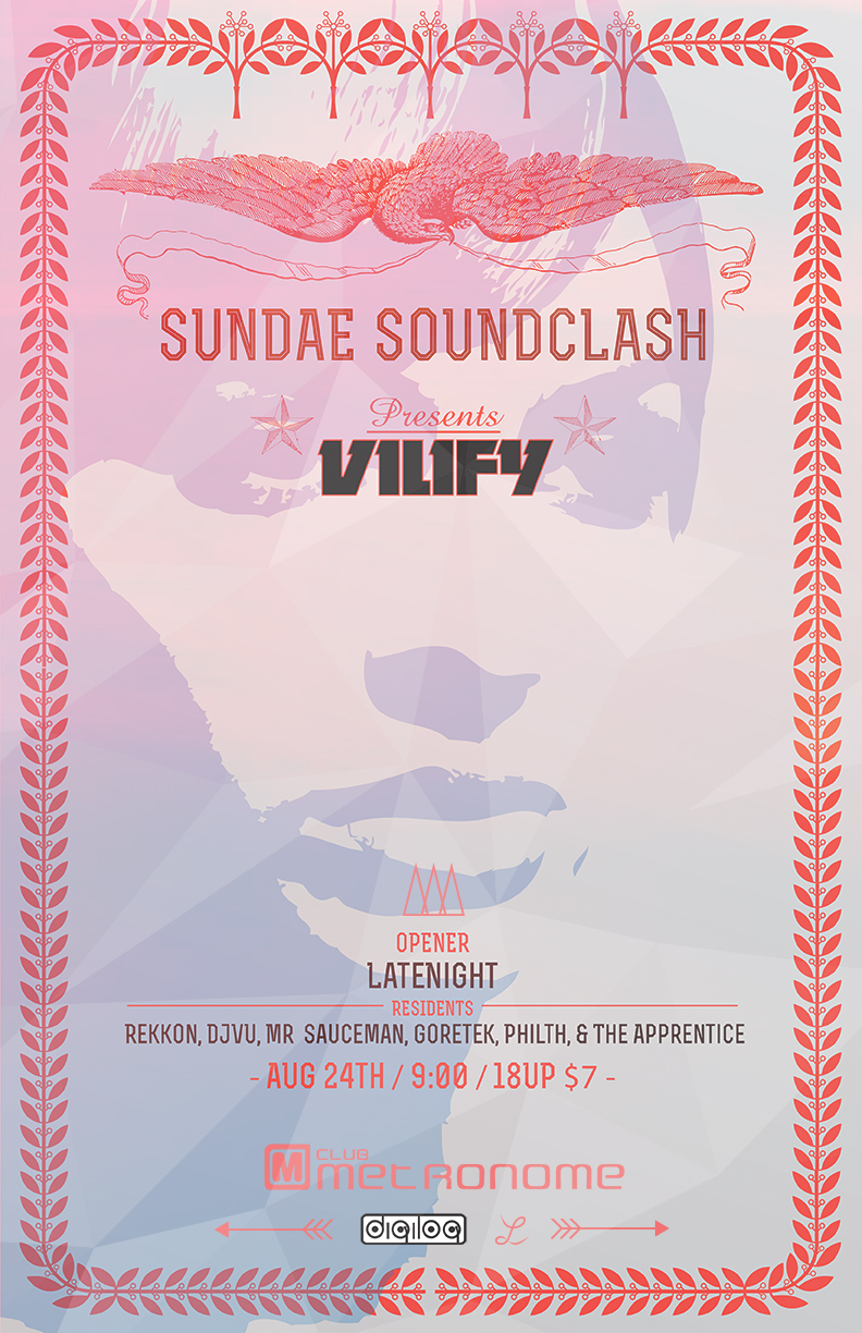 Vilify poster design
