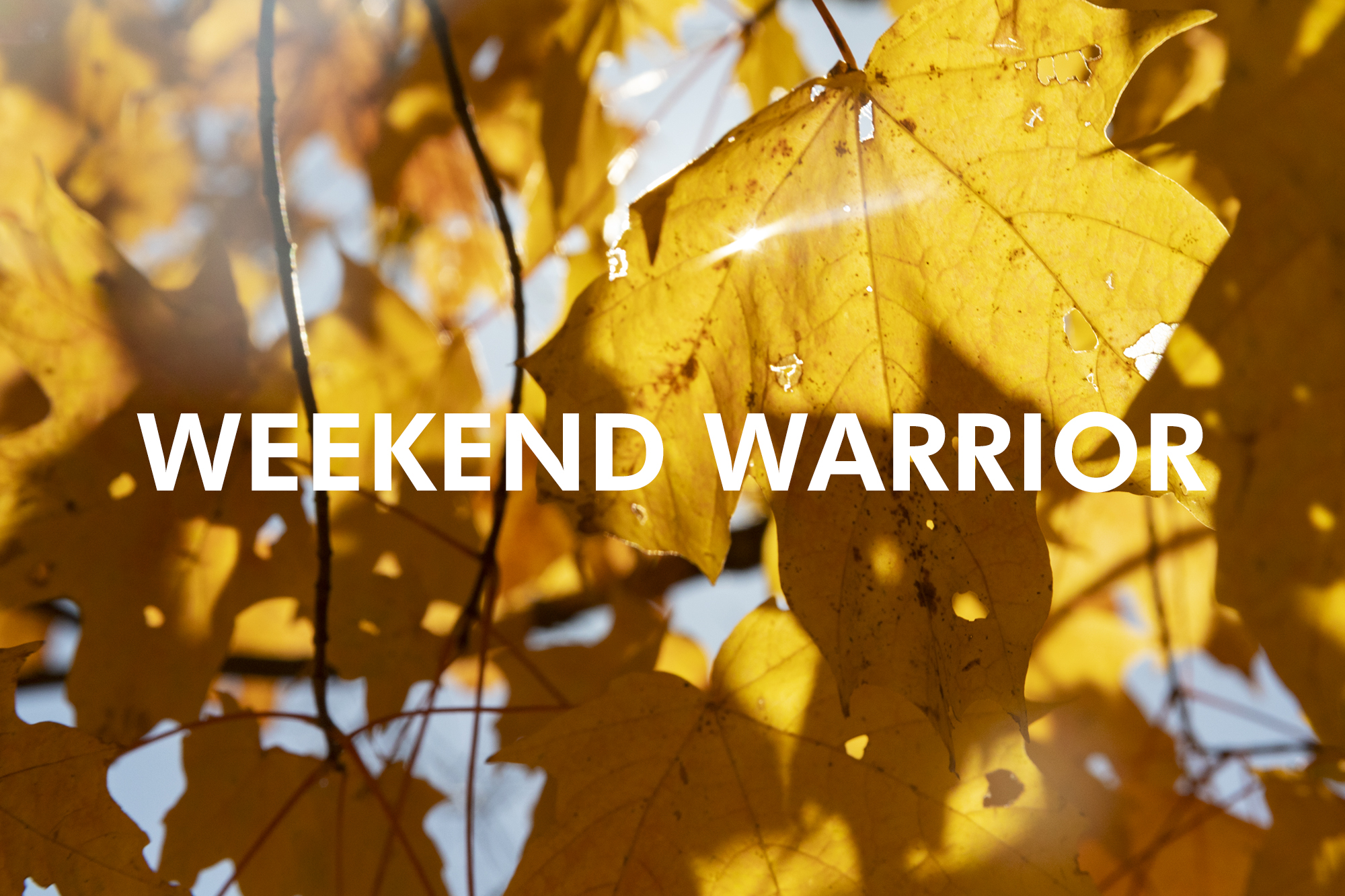Weekend Warrior – Tourist season in Vermont