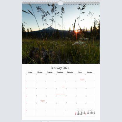 2021 Calendar sample page | Christopher Lisle
